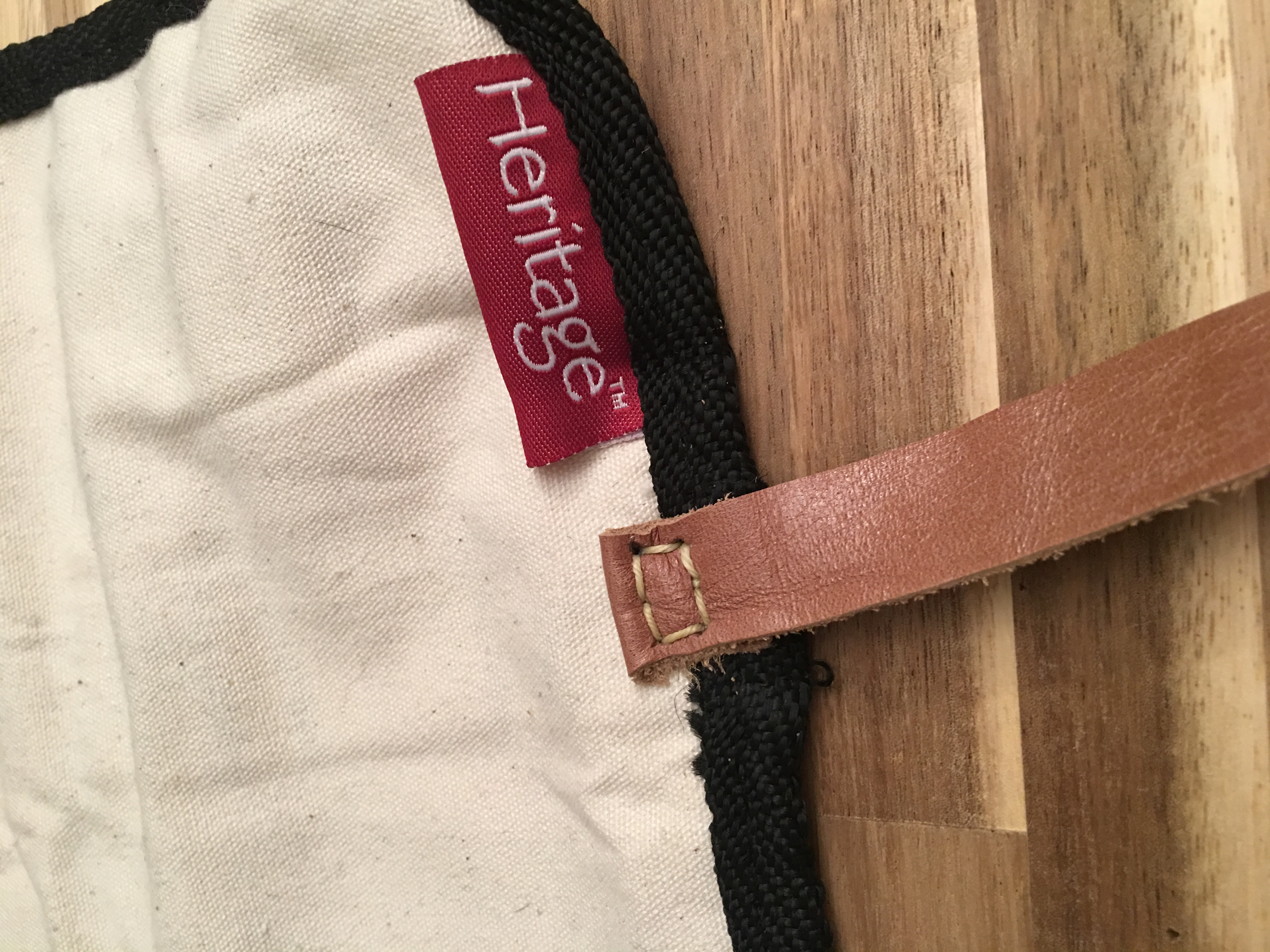 My first sewing-awl saddle stitch!! Pen roll strap